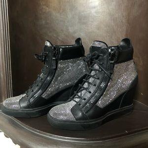 giuseppe zanotti women's sneaker wedges